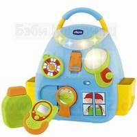 Музыкальный рюкзачек Chicco для детей.  Детский музыкальный рюкзак 70681.